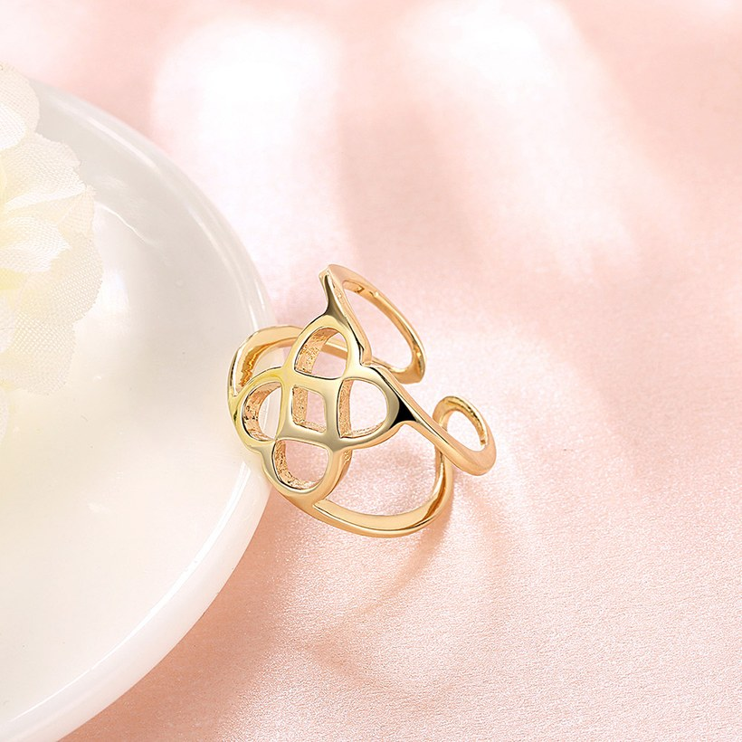 Wholesale Trendy Antique Gold Geometric Ring TGGPR379 2