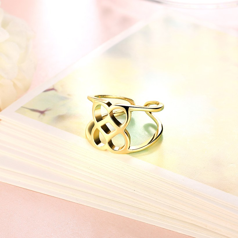 Wholesale Trendy Antique Gold Geometric Ring TGGPR379 3