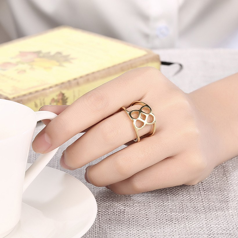 Wholesale Trendy Antique Gold Geometric Ring TGGPR379 4