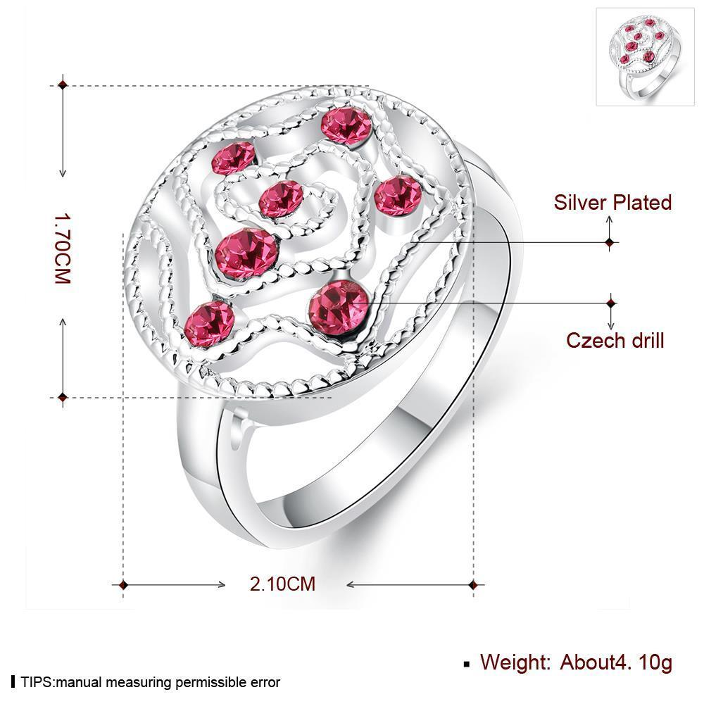 Wholesale Fashion Abstract Ring Galaxy Planet red Crystal Ring For Woman Female Engagement Jewelry Cocktail Finger Accessories TGSPR707 0