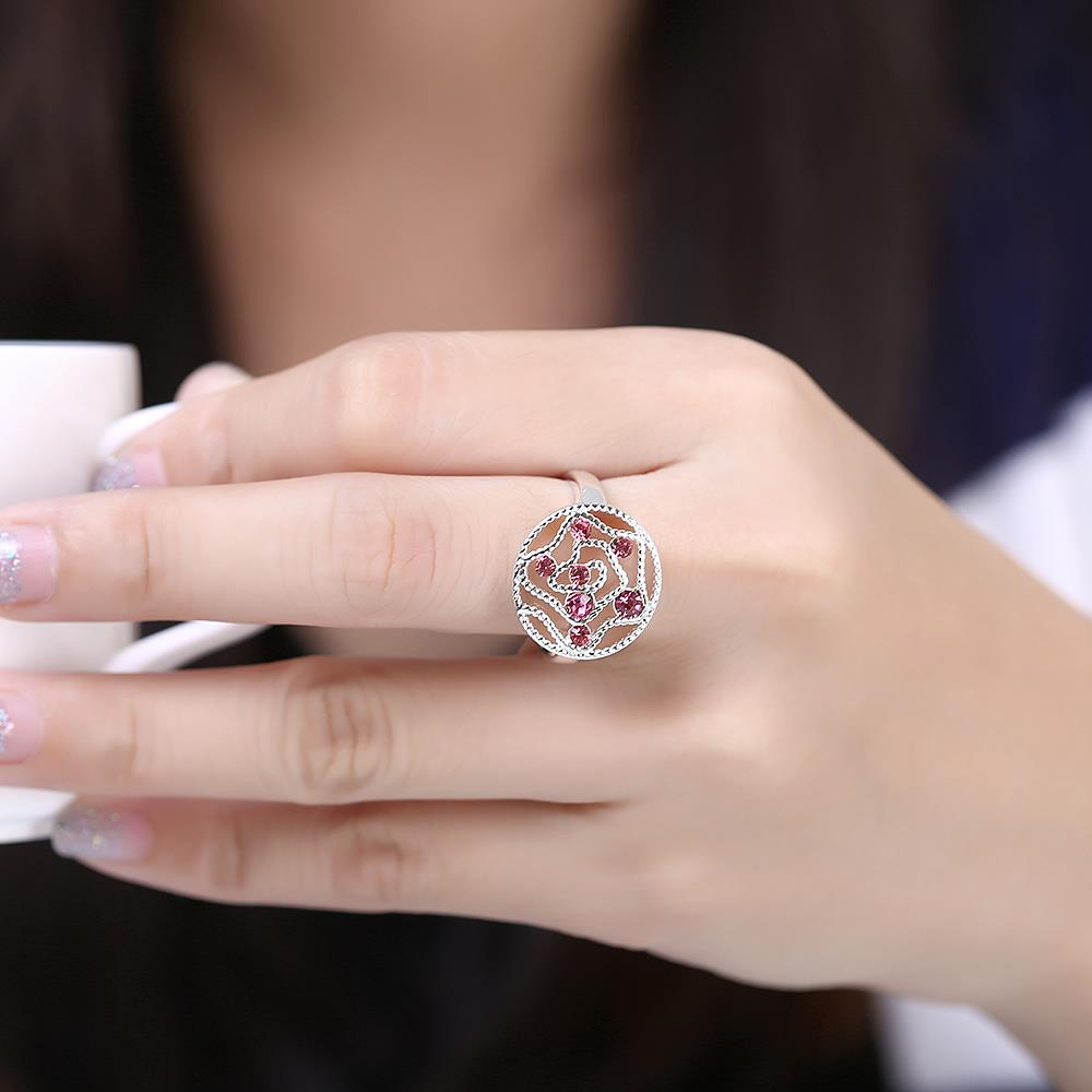 Wholesale Fashion Abstract Ring Galaxy Planet red Crystal Ring For Woman Female Engagement Jewelry Cocktail Finger Accessories TGSPR707 4