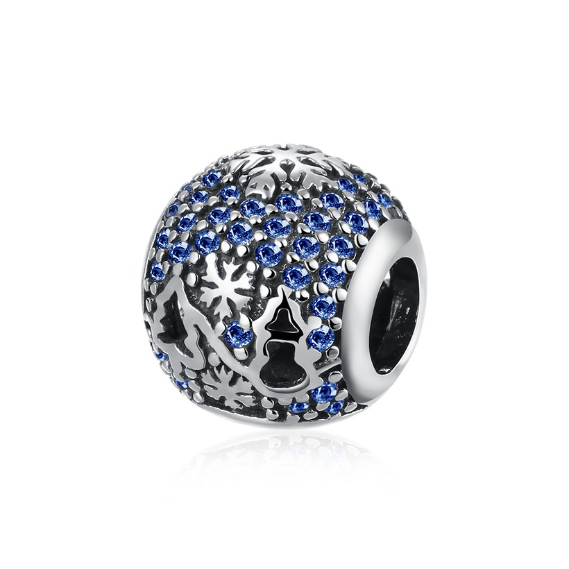 Wholesale Antique Sterling Silver CZ Bead TGSLBD093
