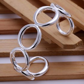 Wholesale Trendy Silver Round Bangle&Cuff TGSPBL018