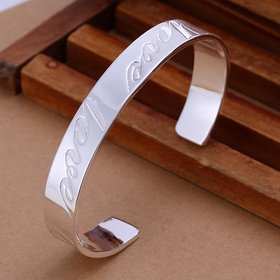Wholesale Trendy Silver Round Bangle&Cuff TGSPBL020