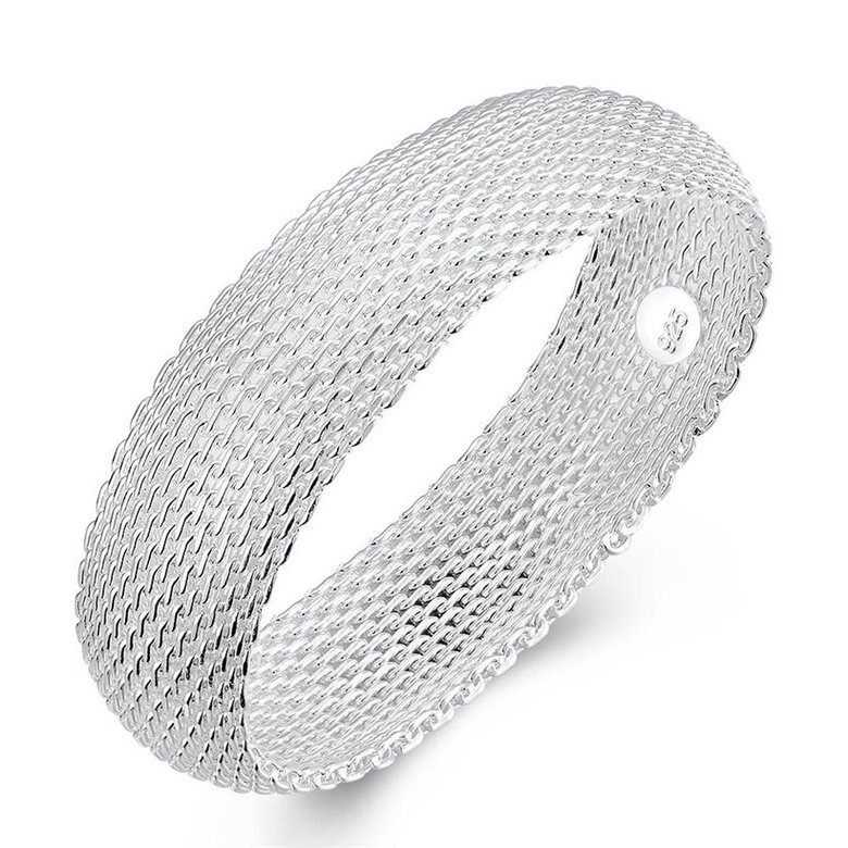 Wholesale Trendy Silver Round Bangle&Cuff TGSPBL040