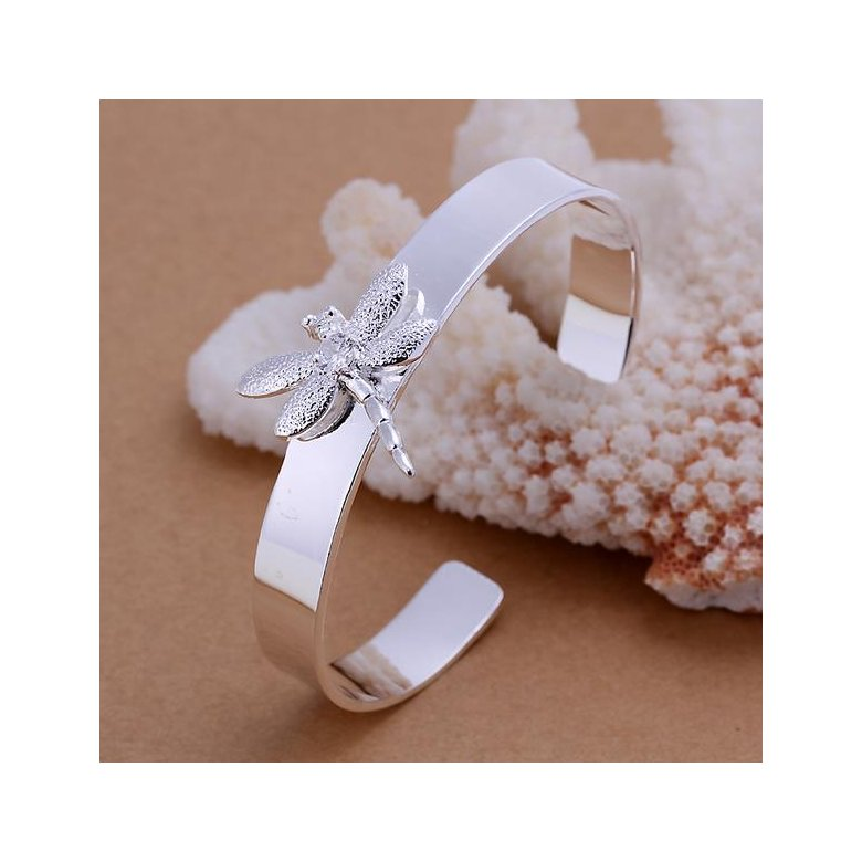 Wholesale Trendy Silver Insect Wood Bangle&Cuff TGSPBL051