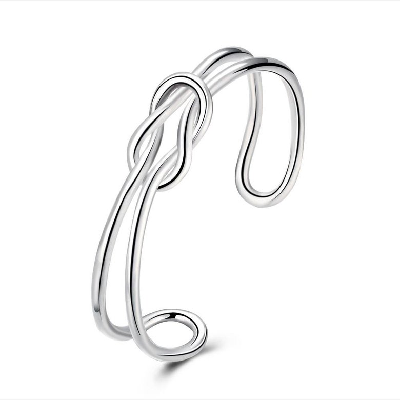 Wholesale Trendy Silver Plant Bangle&Cuff TGSPBL173