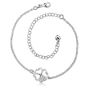 Trendy Silver Animal CZ Anklets