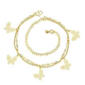 Wholesale Trendy 24K Gold Animal Anklets TGAKL056