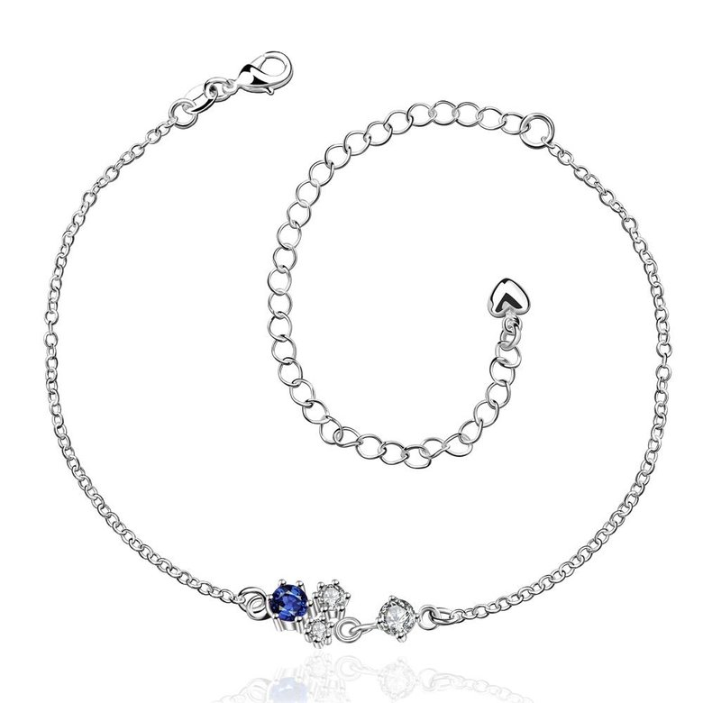 Wholesale Romantic Silver Water Drop Stone Anklets TGAKL063