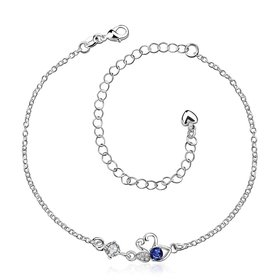 Wholesale Classic Silver Animal Stone Anklets TGAKL068