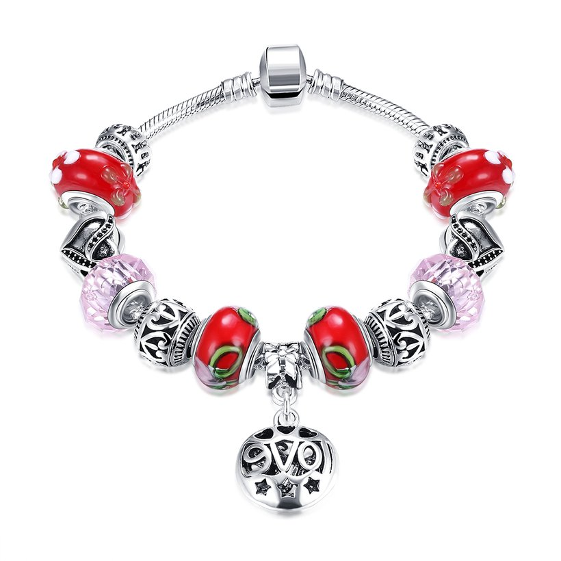 Wholesale Silver Love Beads Europe Style Bracelet TGBB006