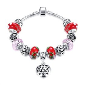 Silver Love Beads Europe Style Bracelet