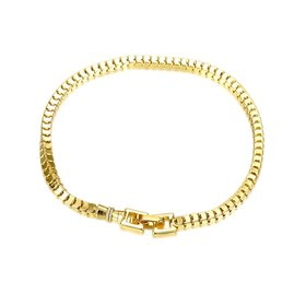 Trendy Antique Gold Round Bracelet