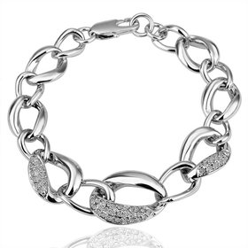 Romantic Platinum Animal Rhinestone Bracelet