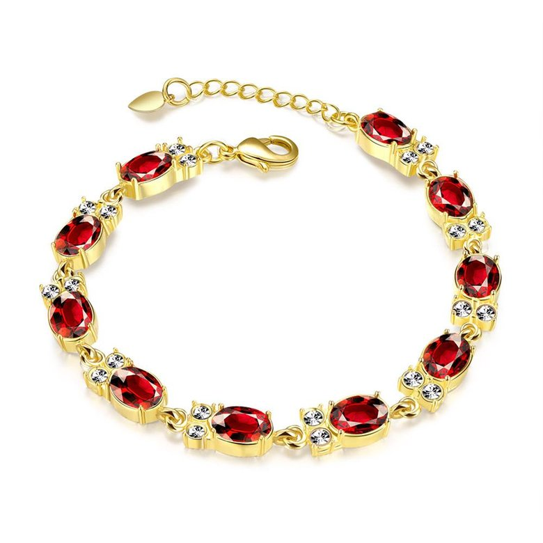 Wholesale Classic 24K Gold Round Resin Bracelet TGGPB029