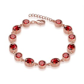 Wholesale Trendy Rose Gold Round Resin Bracelet TGGPB001