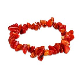 Vintage Geometric Red Crystal Bracelet