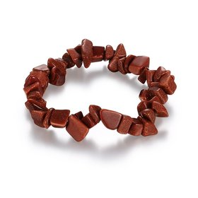 Vintage Geometric Brown Crystal Bracelet