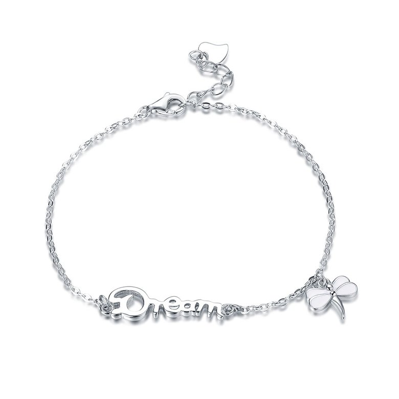 Wholesale Romantic Silver Insect Bracelet TGSLB026