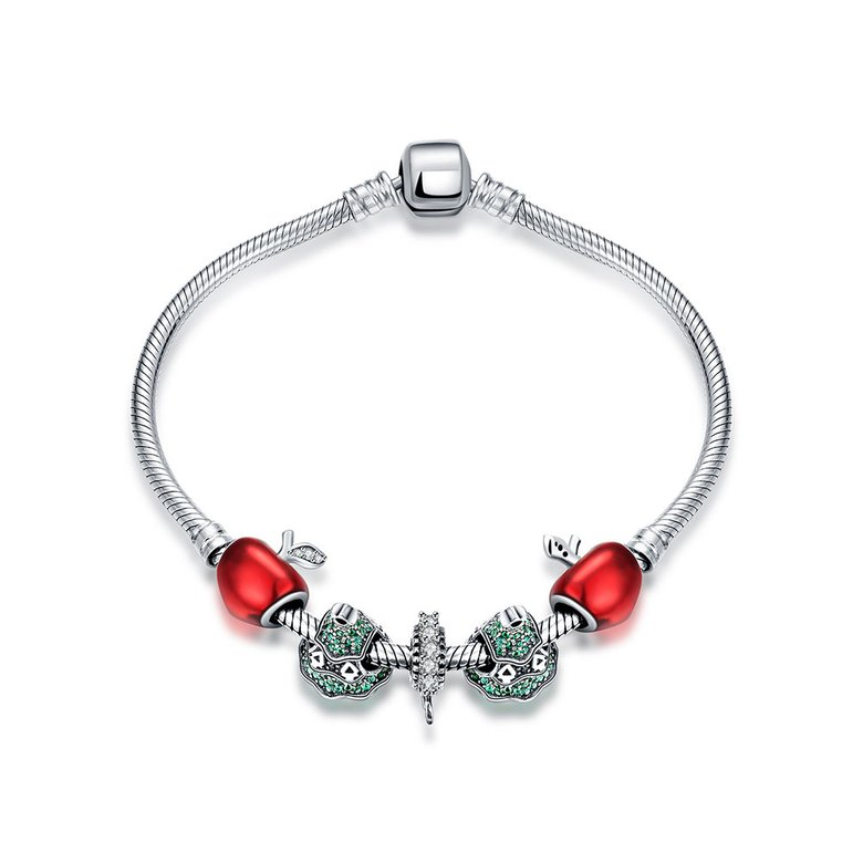 Wholesale Vintage Antique Silver Red CZ Bracelet TGSLB006