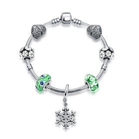 Vintage Antique Silver Green CZ Bracelet