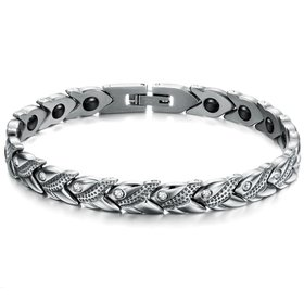 Wholesale Stainless steel radiation protection health magnetic heart shape Bracelet TGSMB049