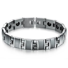 Wholesale Stainless steel radiation protection health magneticman Bracelet TGSMB050