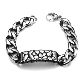 Punk 316L stainless steel Geometric Bracelet
