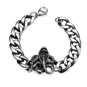 Rock 316L stainless steel Animal Bracelet