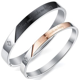 Wholesale New Fashion Stainless Steel Couples BraceletLovers TGSMB018