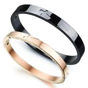 Wholesale New Fashion Stainless Steel Couples BraceletLovers TGSMB001