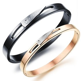 Wholesale New Fashion Stainless Steel Couples BraceletLovers TGSMB013