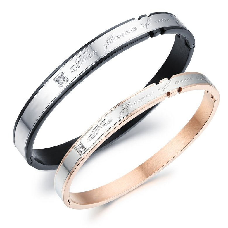 Wholesale 2018 New Fashion Stainless Steel Couples BraceletLovers TGSMB002