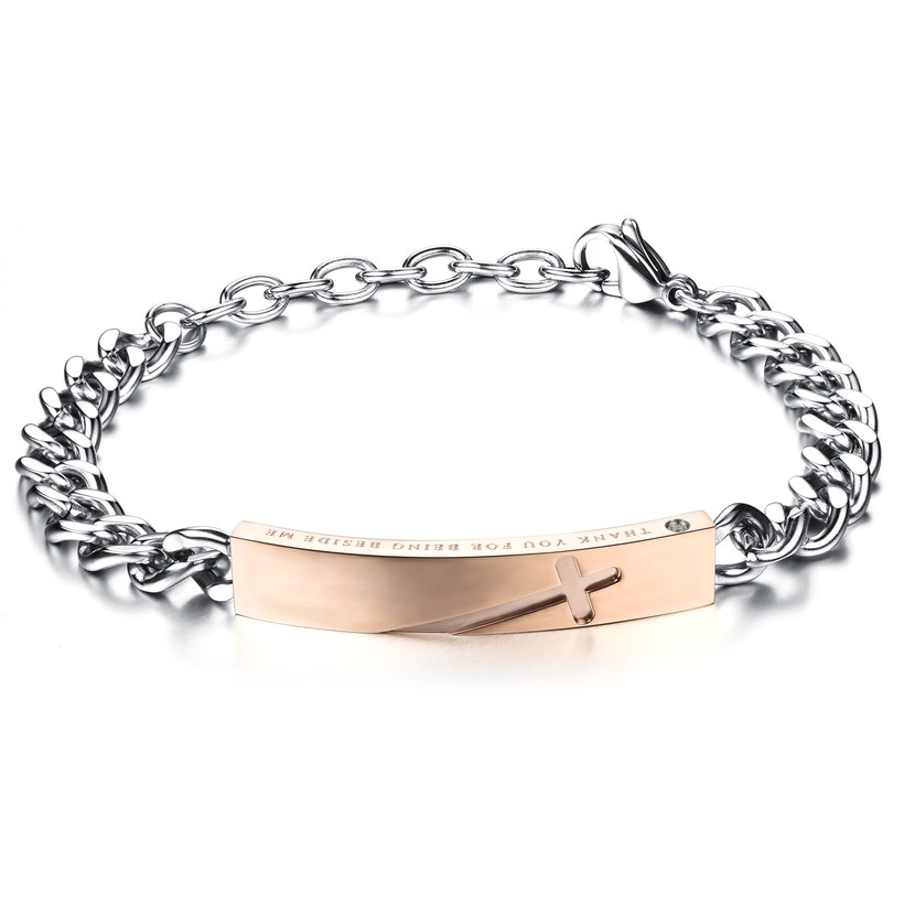 Wholesale 2018 New Fashion Stainless Steel Couples BraceletLovers TGSMB004 0