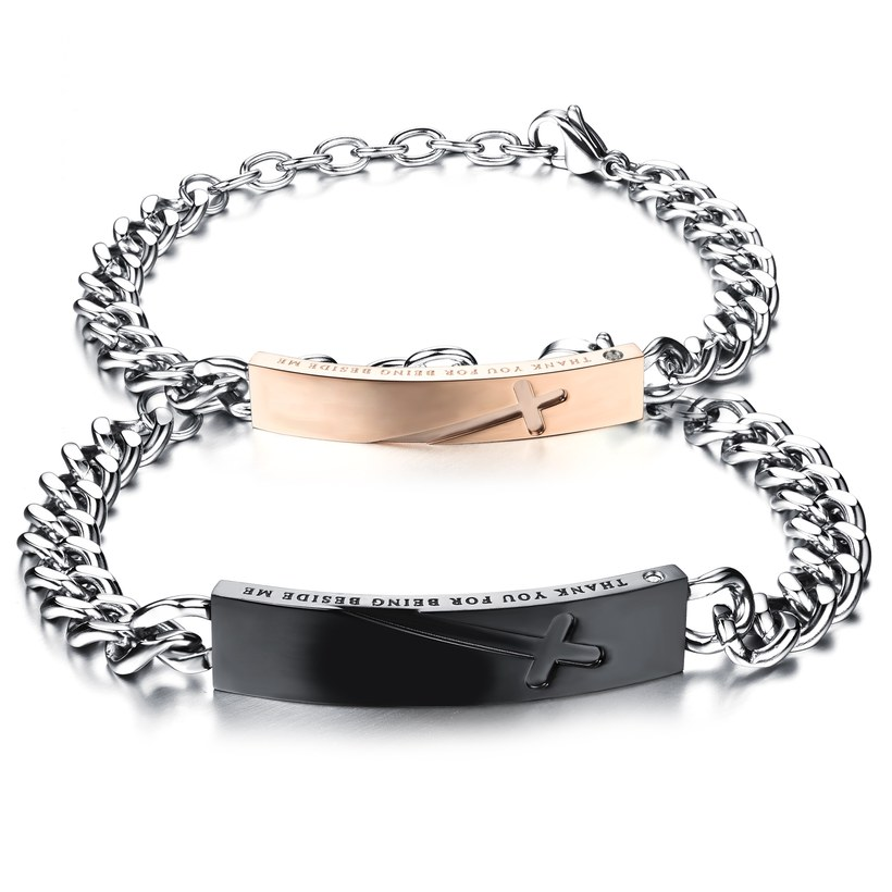 Wholesale 2018 New Fashion Stainless Steel Couples BraceletLovers TGSMB004