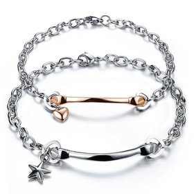 Wholesale 2018 New Fashion Stainless Steel Couples BraceletLovers TGSMB005