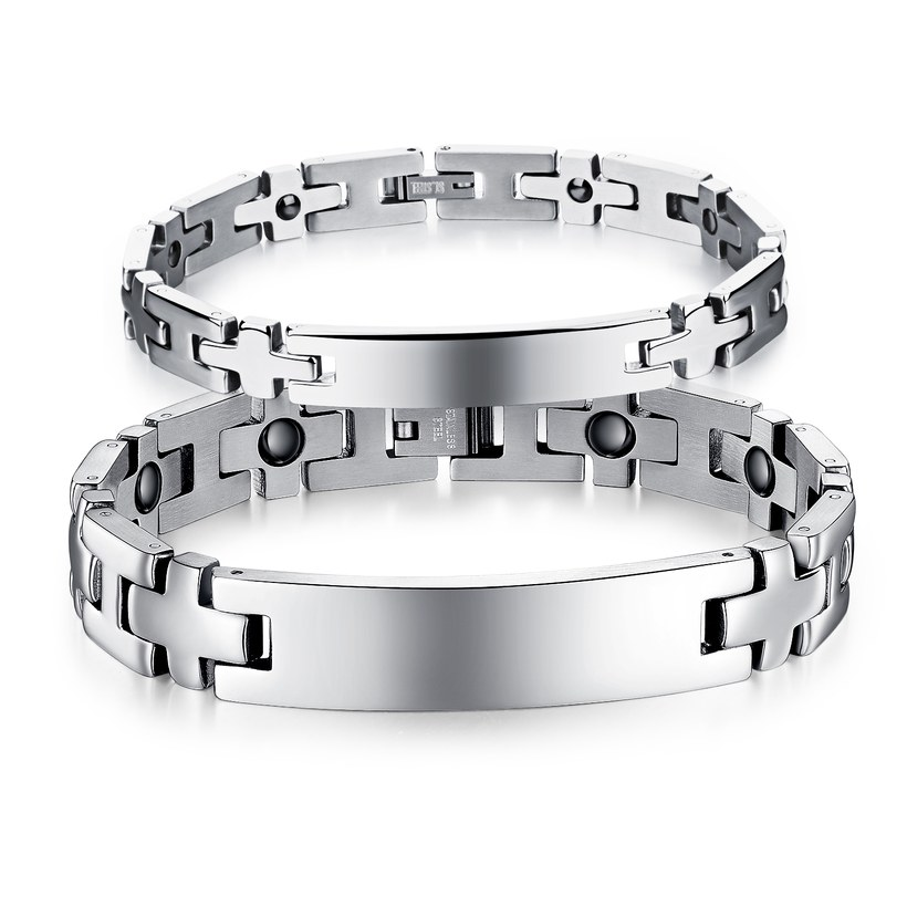Wholesale 2018 New Fashion Stainless Steel Couples BraceletLovers TGSMB008