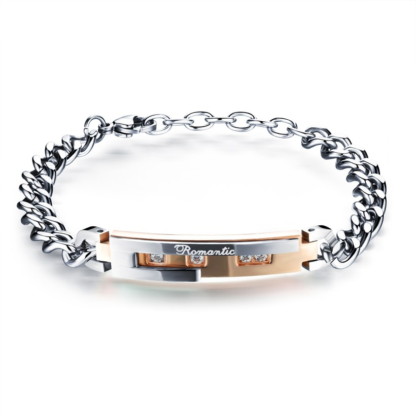 Wholesale 2018 New Fashion Stainless Steel Couples BraceletLovers TGSMB010 0