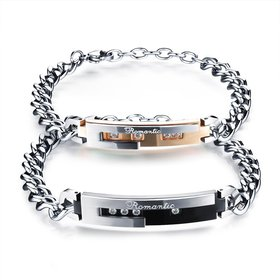 Wholesale 2018 New Fashion Stainless Steel Couples BraceletLovers TGSMB010