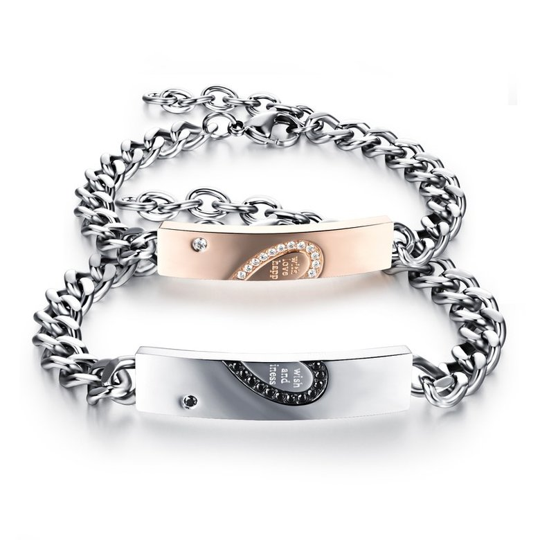 Wholesale 2018 New Fashion Stainless Steel Couples BraceletLovers TGSMB011