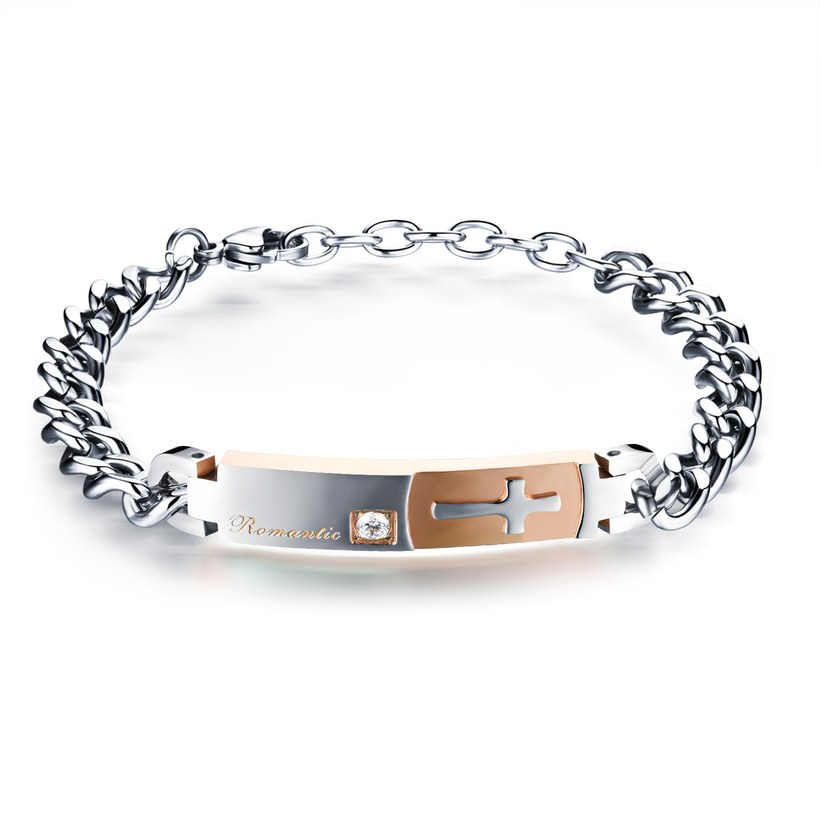 Wholesale 2018 New Fashion Stainless Steel Couples BraceletLovers TGSMB012 0