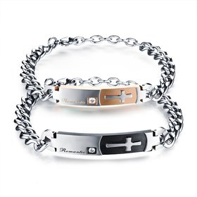 Wholesale 2018 New Fashion Stainless Steel Couples BraceletLovers TGSMB012