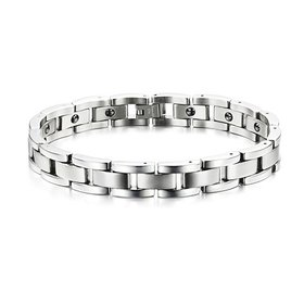 Wholesale Fashion free shipping Stainless steel magnetic bracelet TGSMB052