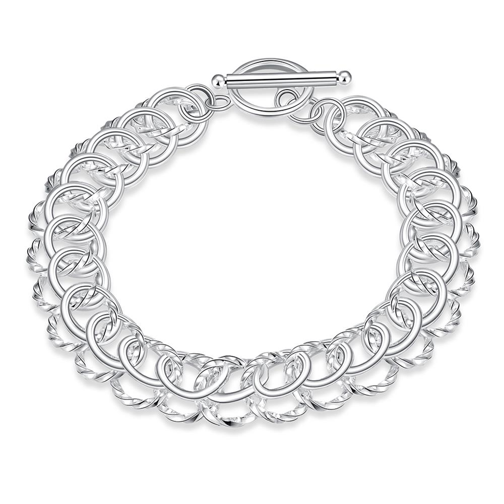 Wholesale Classic Silver Round Bracelet TGSPB369