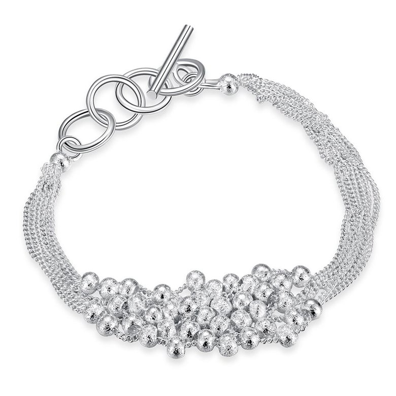 Wholesale Romantic Silver Ball Bracelet TGSPB385