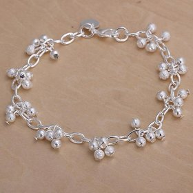 Wholesale Romantic Silver Ball Bracelet TGSPB037