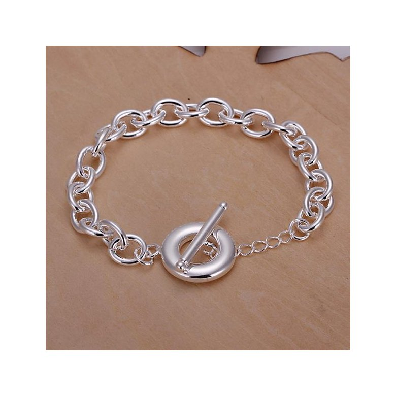 Wholesale Romantic Silver Round Bracelet TGSPB044
