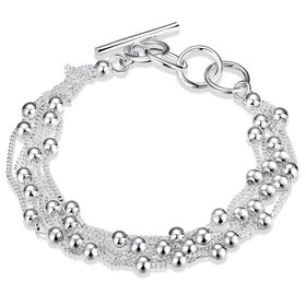 Wholesale Trendy Silver Ball Bracelet TGSPB058