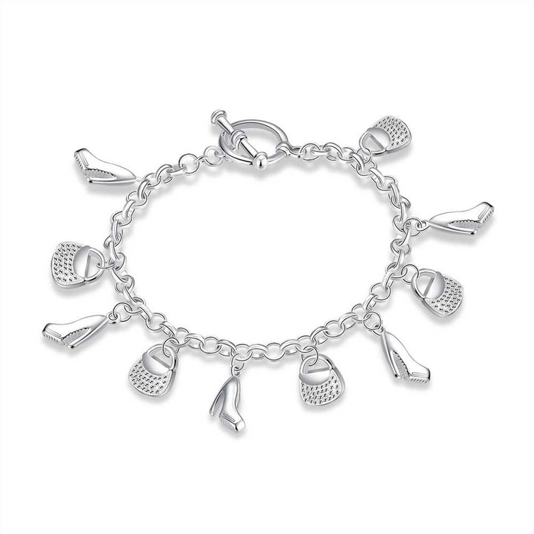 Wholesale Trendy Silver Lock Bracelet TGSPB066